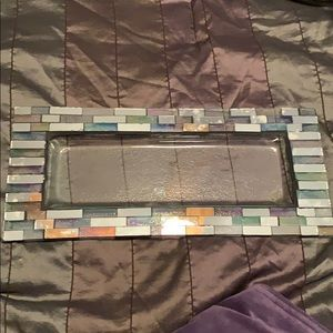 Glass mirrored tray